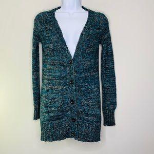 UO BDG Marled Blue Cardigan Sweater
